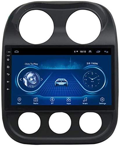 Lour Android 8.1 Pantalla táctil de 10 Pulgadas de Radio del Coche del sostenedor de navegación GPS FM estéreo Am Bluetooth Manos Libres para Reproductor Multimedia inalámbrico Jeep Compa.