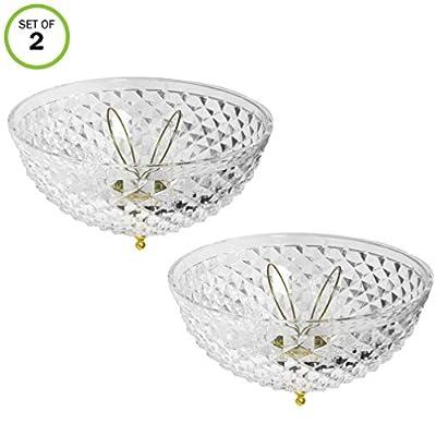 Evelots Ceiling Clip-on Light Bulb Shade-Lamp-Dome-Diamond Cut-Acrylic-Set/2