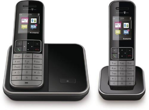 T - Sinus 606 DUO Set graphite / schwarz analoges DECT Telefon ohne Anrufbeantworter