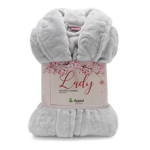 Roupão Adulto Microfibra Flannel Feminino Lady Appel Lunar