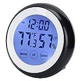HERCHR Reloj Despertador táctil Digital con luz Nocturna, Alarma, Fecha, Temperatura, Función Snooze, Reloj de Viaje para la mesita de Noche del Escritorio del Dormitorio