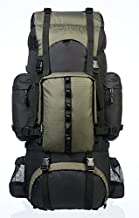 Amazon Basics Internal Frame Hiking Camping Rucksack Backpack with Rainfly - 15.5 x 7 x 32 Inches, 65 Liters, Green