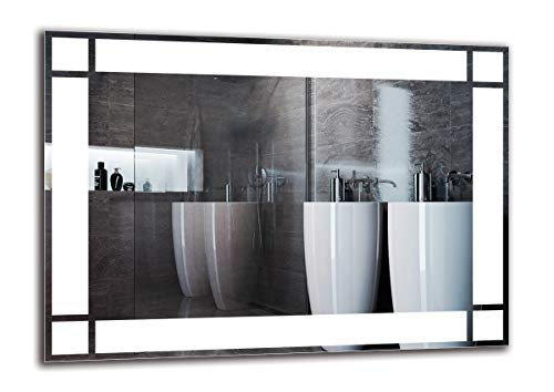 Espejo LED Premium - Dimensiones del Espejo 70x50 cm - Espejo de baño con iluminación LED - Espejo de Pared - Espejo de luz - Espejo con iluminación - ARTTOR M1ZP-60-70x50 - Blanco frío 6500K