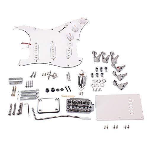 LIOOBO Kit de accesorios de bricolaje para guitarra eléctrica, sistema de puente,...
