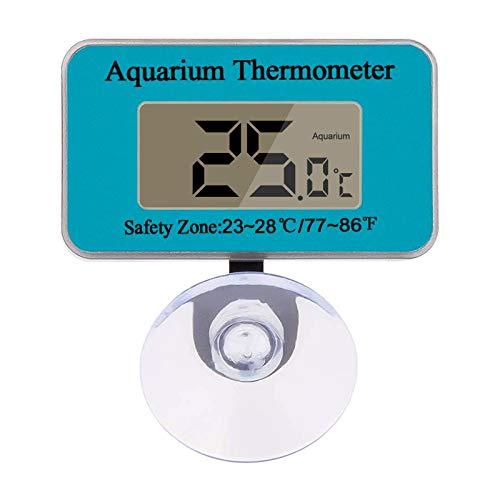 Aspiree Digital LCD Termómetro de Acuario con Ventosa Impermeable Mini Fish Tank Interior Termómetro Medición de Temperatura Pantalla Acuario Accesorios, -50 ℃ ∽ 70 ℃