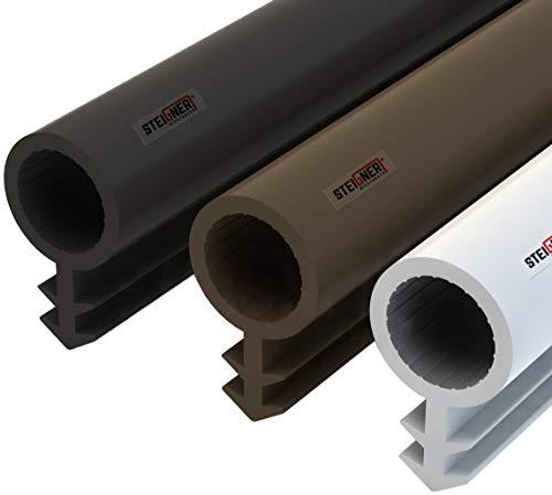 STEIGNER Burlete para Puerta y Ventana STD03 5m 8mm Negro Junta de goma Perfil de estanqueidad para ventanas y puertas de PVC, Madera, Aluminio