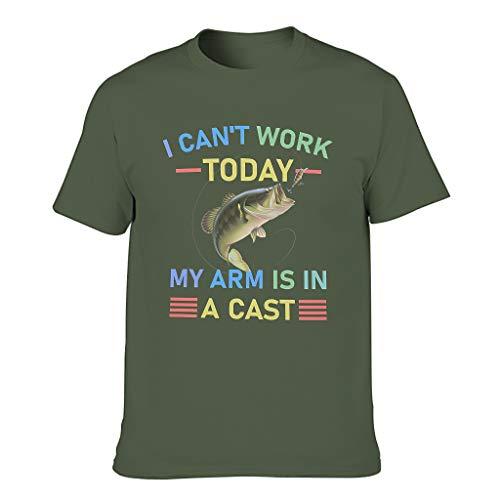 Lind88 hombres no pueden trabajar hoy pesca algodón camiseta - divertido Hobby divertido top Wear