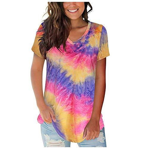 Die Neuen KurzäRmeligen T-Shirt-Damenoberteile FüR Damen Mit Sommer-V-Ausschnitt