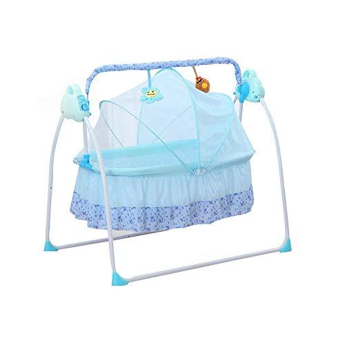 SHIOUCY Cuna eléctrica para bebé, 3 colores, balancín y balancín para bebé,...