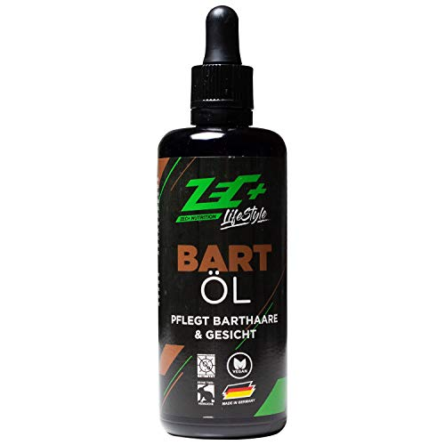 ZEC+ Lifestyle Bartöl 75 ml, Zec Plus Bartöl-Conditioner für die ideale Bartpflege, Beard Oil mit ätherischen Ölen, spendet Feuchtigkeit & Glanz, Hautpflege mit angenehmem Zitrus-Duft