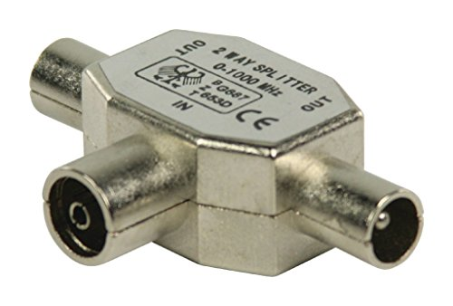Valueline coax/2x coax - Conector coaxial (2x Coax, Coaxial, Male connector / Female connector, 1 pieza(s))