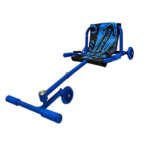BIWOND Roller Dance (Patinete Infantil sin baterías con 3 Ruedas, Luces LED, Movimientos Zigzag, para Niños y Niñas, Material Antideslizante) - Azul
