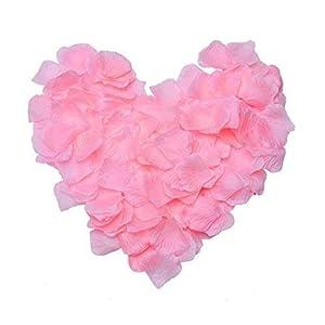 ZARRS Pétalos de Rosa,3000 Paquete Artificiales de Pétalos de Seda para Boda Día de San Valentín Arte Decoración Mesa…