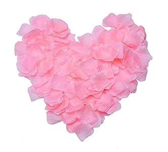 ZARRS Pétalos de Rosa,3000 Paquete Artificiales de Pétalos de Seda para Boda Día de San Valentín Arte Decoración Mesa Confeti Rosado