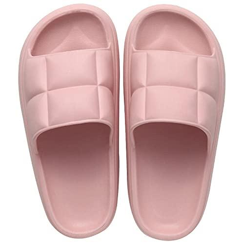 Anlemi Zapatillas Antideslizantes Libre Baño,Zapatillas Antideslizantes de Suela Gruesa para Exteriores,Zapatillas de casa cómodas y aumentadas-Pink_37-38,Zapatillas de Estilo para el hogar