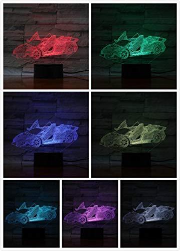 Veilleuse Voiture De Sport De Luxe Haut De Gamme Kleine Nachtlicht 7 Farbe Touch Optische Bild Tischdekoration Lampe, Geeignet Für Schlafzimmer Bar Atmosphäre Lampe