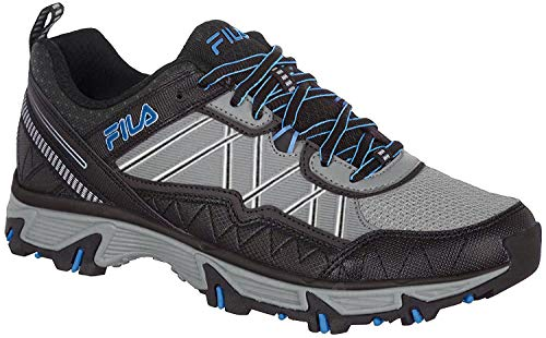 Fila at Peake 20 Mens Trail Running Athletic Shoes (8.5 D US, Grey-Blue-Black)