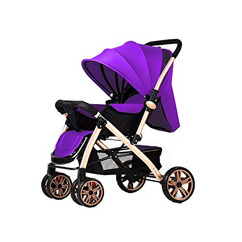 Sale!! Xinjin Baby Cart High Landscape Light Can Sit and Lie Down Fold Suspension Four Rounds Baby B...