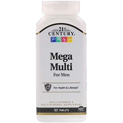 21st Century Mega Multi for Men, Multivitamin & Multimineral, 90 Tablets