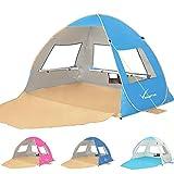 Large Pop Up Beach Tent Beach Umbrella Automatic Sun Shelter Cabana Easy Set