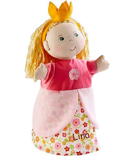 LALALO Handpuppe Prinzessin mit Namen Bestickt, Puppentheater Kasperletheater Spielfigur 2179