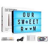 Caja de iluminación cinematográfica con 7 colores cambiantes, con 120 letras, tamaño A4, LED RGB,...