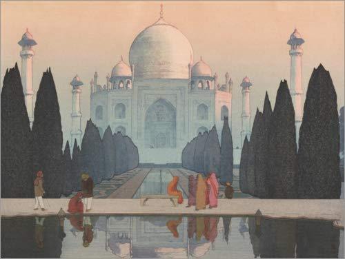 Póster 80 x 60 cm: Morning Mist in The Taj Mahal de Yoshida Hiroshi - impresión artística, Nuevo póster artístico