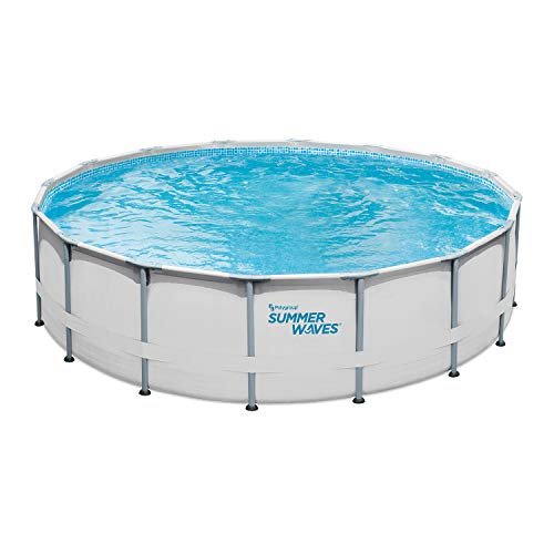 """Summer Waves 16' Elite Frame Above-Ground Pool, 16'x48"""" -  Polygroup Trading, P4001648B"""