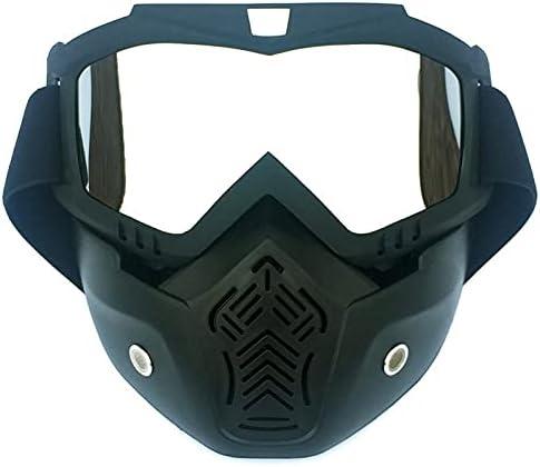 Gafas de Seguridad Gafas de Seguridad con Filtro de Boca Unisex Ski Ski Snowboard Mask Snowmobile Skiing Goggles Protector de Motocross a Prueba de Viento (Color : Mercury)