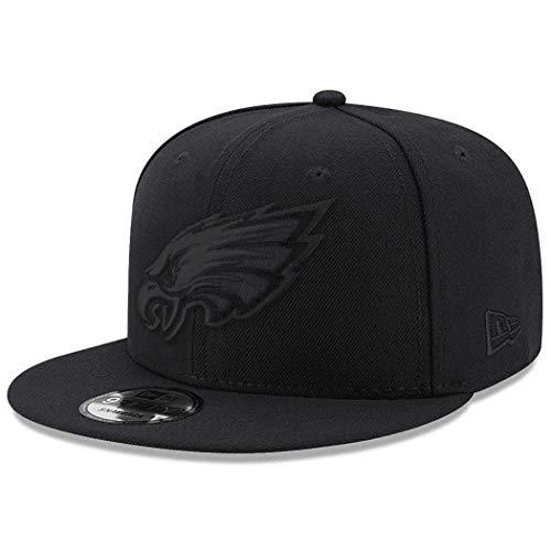 New Era Philadelphia Eagles Hat NFL Black on Black 9FIFTY Snapback Adjustable Cap Adult One Size