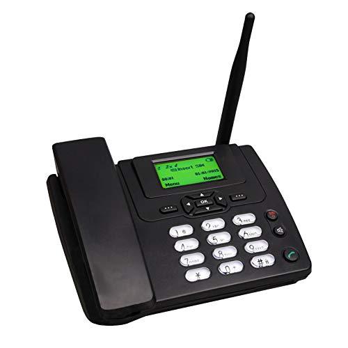 Teléfono De Escritorio Con Ranura Para Tarjeta SIM,Teléfono Inalámbrico De Escritorio,Teléfono Residencial GSM En Negro, Identificador De Llamadas, Funciones Manos Libres, El Hogar, La Oficina, Negr