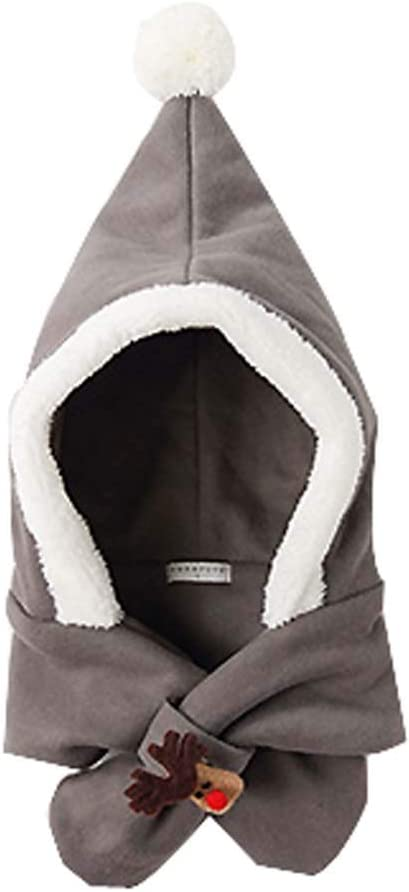 DRAGON SONIC Baby Girls Boys Winter Hat Cute Scarf Earmuffs, Gray