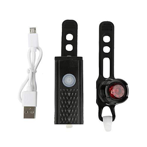 Rücklicht Fahrrad,USB Aufladbaren Fahrrad Licht Vorne Hinten Rücklicht Kombination 300 Lumen 3-Modus Fahrradlampe Sicherheit Warnen Helm-Led-Blitzlicht Für Reithelm Safety Warn-Led Mountain Rückl