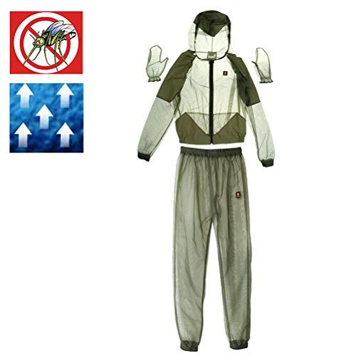 Neborn outdoor muggenbeschermingspak Bug jas mesh met capuchon pakken vissen jacht camping jas beschermhoes mesh vissen kleding