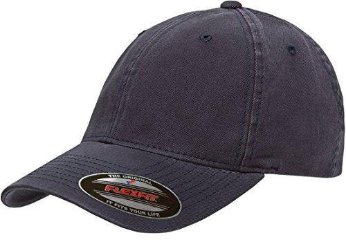 Flexfit Low-Profile Soft-Structured Garment Washed Cap w/THP No Sweat Headliner Bundle Pack Navy