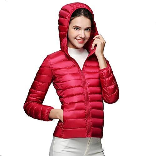 YRFHQB Winter vrouwen ultralicht donsjack 90% donsjack met capuchon lange mouwen warme dunne mantel parka vrouwelijke outwear mantel vrouwen