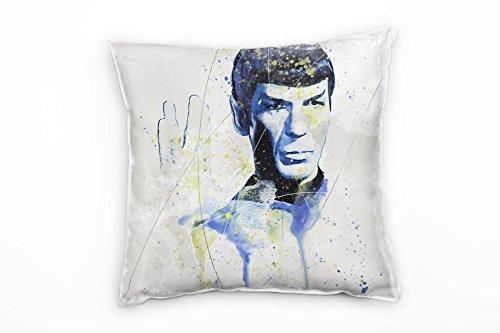 Paul Sinus Art Star Trek Mr Spock Deko Kissen Bezug 40x40cm für Couch Sofa Lounge Zierkissen - Dekoration zum Wohlfühlen