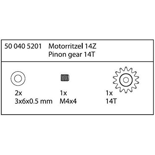 Carson 500405201 - Modellbauzubehör: CY-2 Motorritzel 14 Zähne Specter 6S