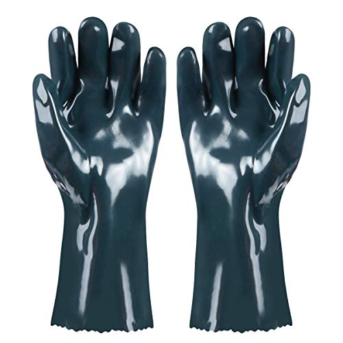 TENINYU BBQ Gloves Hot Food Gloves 1 Pair Griller Insulated HeatResistant Neoprene Durable and Reusable FDA Approved for Handling Hot Food Right Off BBQ Grill Meat Steak Turkey Pulling Pork