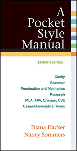 Compare Textbook Prices for A Pocket Style Manual 7th Edition ISBN 9781457642326 by Hacker, Diana,Sommers, Nancy