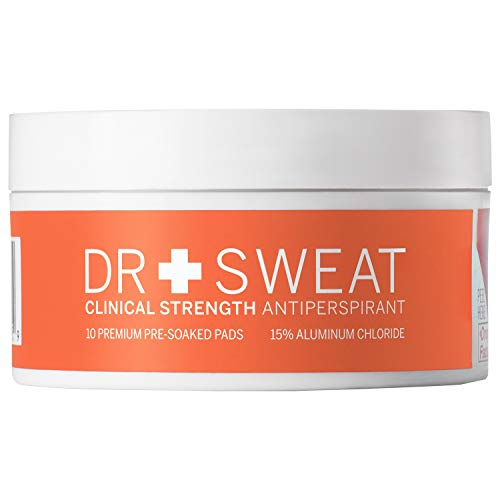 Dr. Sweat Antiperspirant Deodorant Pads for Excessive Sweating Clinical Strength ReduceSweating for 7 Days, Deodorant for Men & Women 10Underarm Sweat Pads