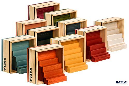 Kapla 9000160 Holzplättchen 40-teilig in Box, violett - 9