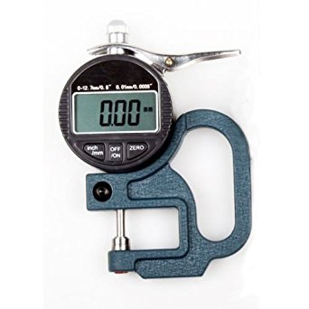 ELEOPTION Electronic Thickness Gauge, Digital Display Leather Cloth Film Thickness Gauge Range 0-10mm Thickness 0.01mm