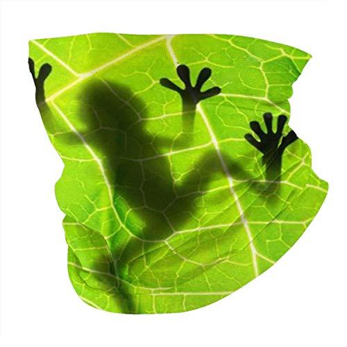 YRMP Biology Animal Frog Leaf Summer Bandana Face ma.sk -Balaclava Scarf Dust Sun Uv Protection Fishing Neck Gaiter - for Men & Women Black