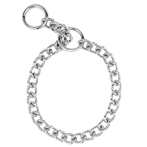 Herm Sprenger Steel Chain Choke  Dog Collar 20 in. with 3 mm. Heavy links