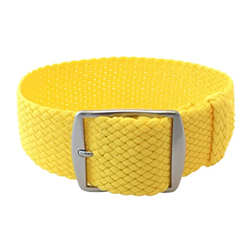 Wrist And Style Perlon Watch Strap (20mm, Yellow)