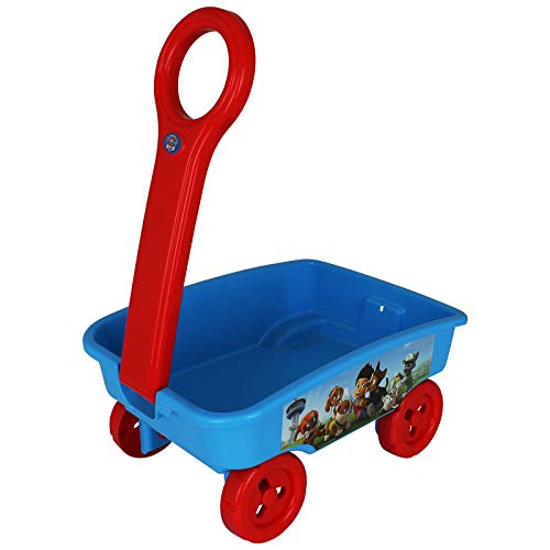 TW24 Handwagen für Kinder mit Motivwahl Bollerwagen Strandwagen Spielzeug Ziehwagen (Paw Patrol blau)