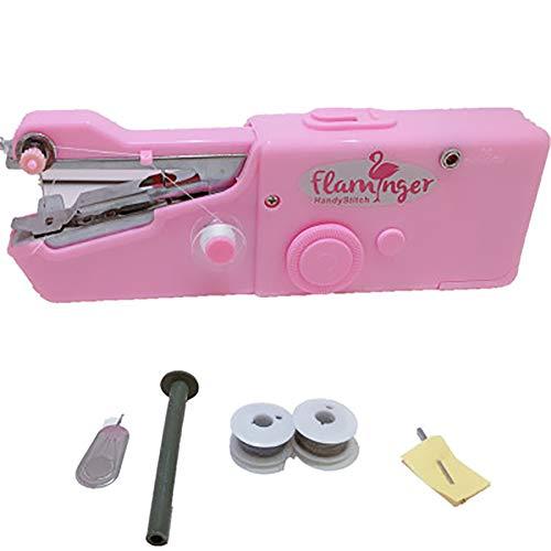 LXJ-KLD Nueva máquina de Coser eléctrica de Mano del hogar Mini portátil de Bolsillo pequeño Manual de Instrucciones fáciles de Comer Gruesa Costura Micro