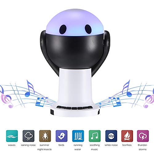 ALLOMN Sleep Sound Machine with Projector Lamp, Soothing Relaxation Sleep Machine, Timing Design/9 Kinds of Sound Effects/4 Light Effects for Insomniac Travel Home Office