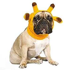 iChoue Pet Hat Dog Costume Knitted Snood Headband Scarf for Dogs Neck Ears Warm